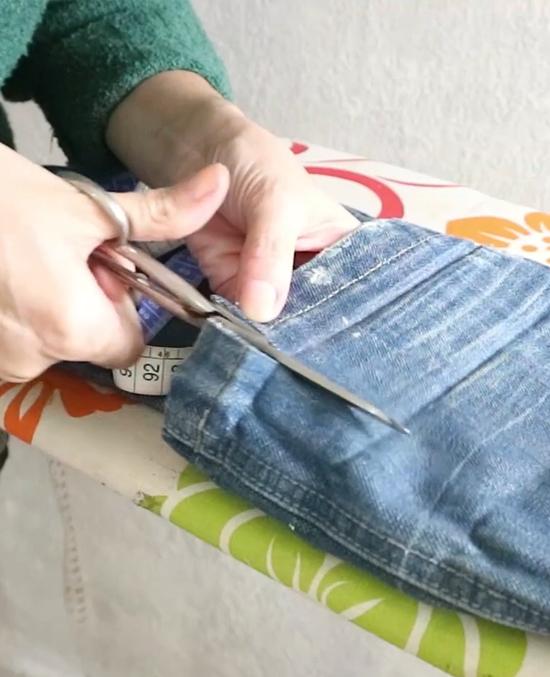 cortar barra da calça