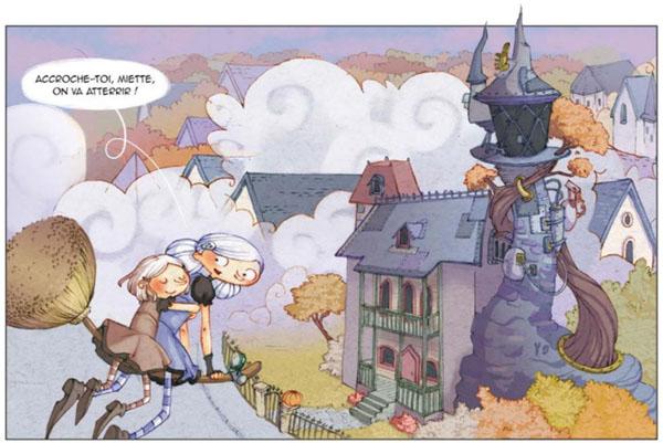 Sorcières sorcières : et bien sûr ds balais volants et un village rempli de sorciers en tous genres