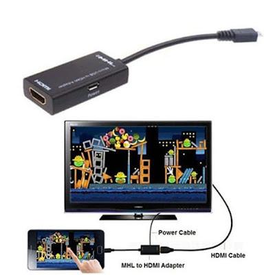 cara menyambungkan hp ke tv dengan mhl