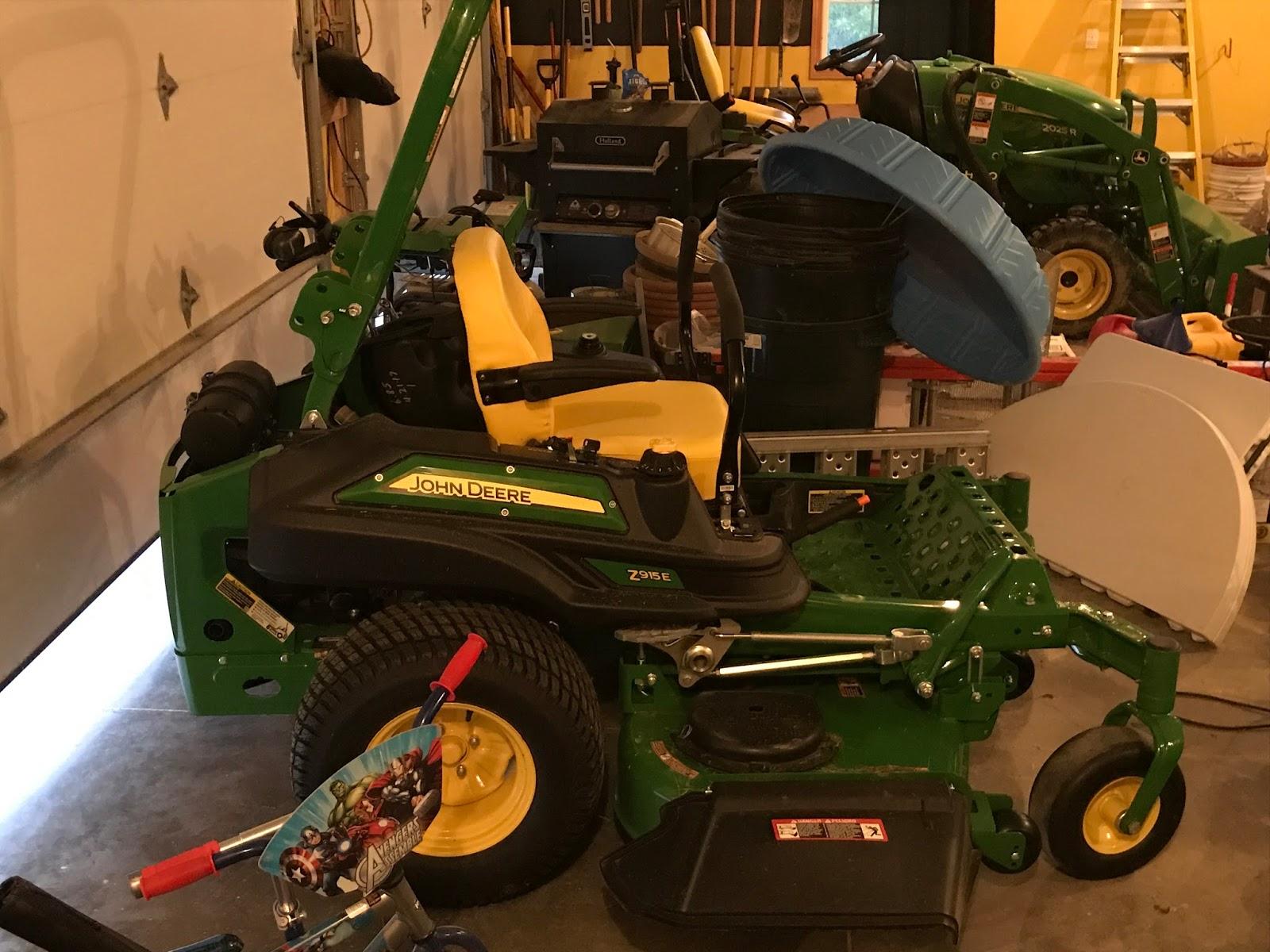 First Maintenance on John Deere Z915e - Woodward Acres: Tree Farm ...