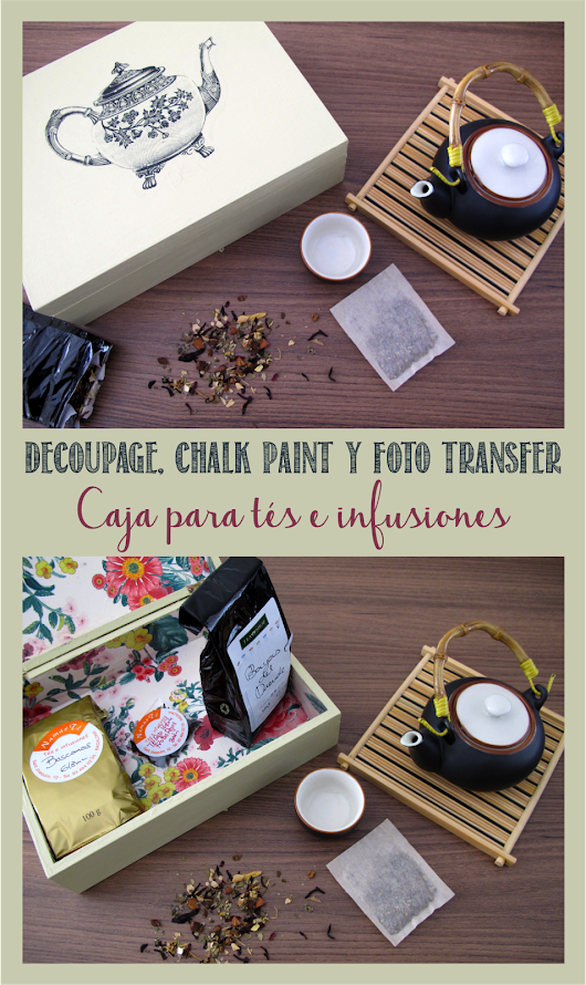 Aprende decoupage, chalk paint y foto transfer