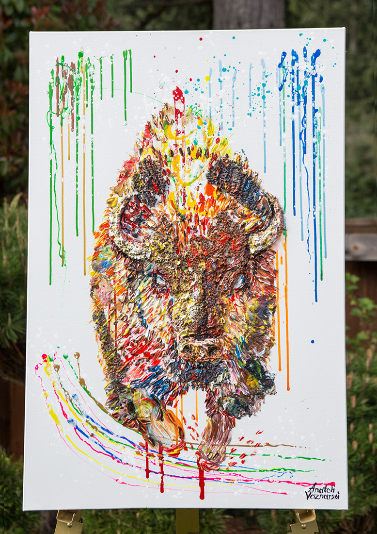 buffalo painting,buffalo unique texture, buffalo voznarski, buffalo 3d artwork,  buffalo pop art, abstract buffalo painting, buffalo on canvas, buffalo oil ,buffalo 3d painting, buffalo acrylic,buffalo impasto,  buffalo 3d textured,