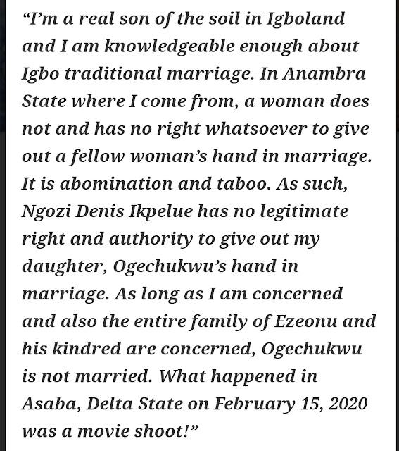 Ngozi Ezeonu daughter marriage
