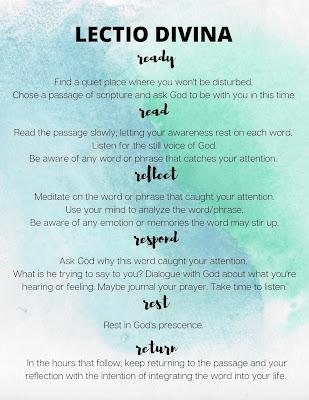 Lectio Divina A guide to prayer
