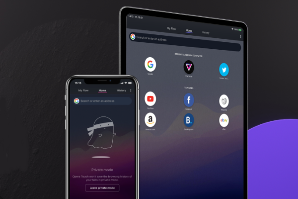 Opera Touch browser comes to the iPad