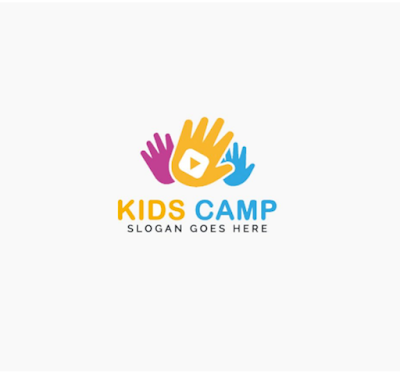 Kids Camp Logo PNG and PSD Free