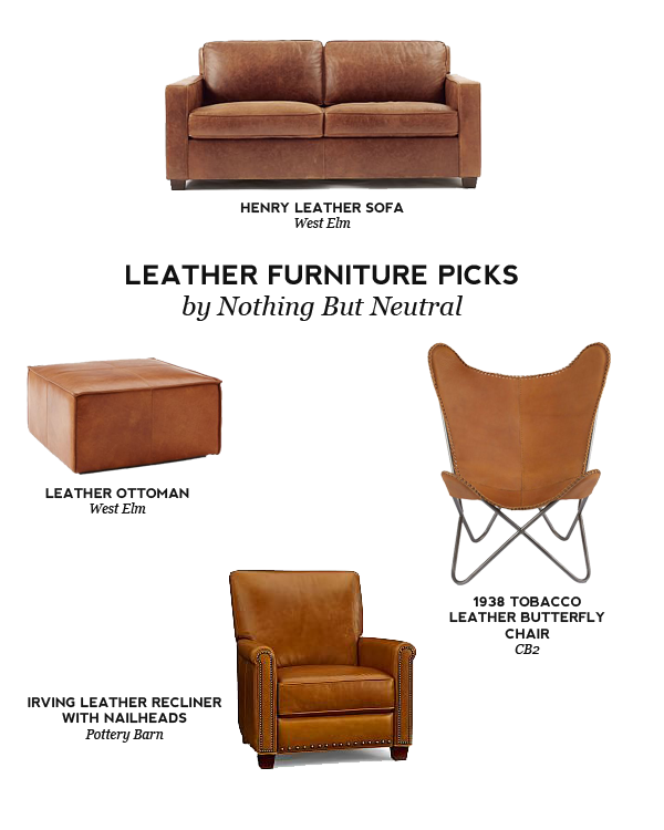 Nothing But Neutral: Design Trend: Leather Accent Furniture