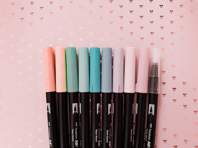 Tombow Dual Brush Pen Review (Pastel Pack)
