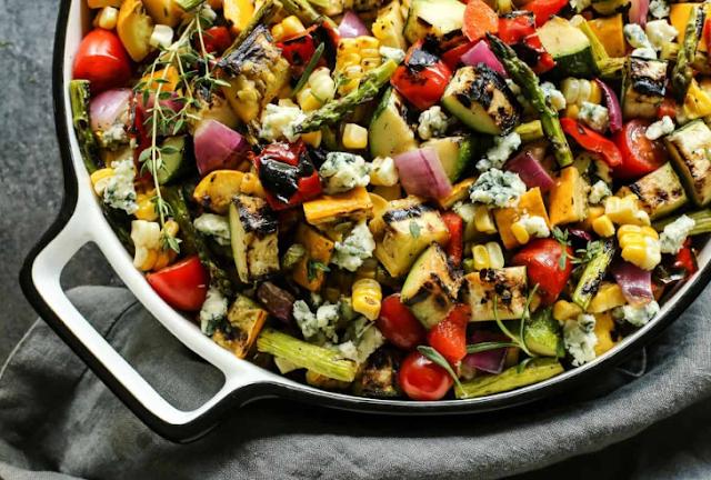 Grilled Vegetable Salad #vegetarian #salad