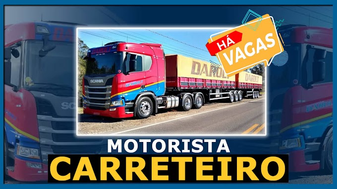 Transportadora Darolt abre vagas para motorista carreteiro