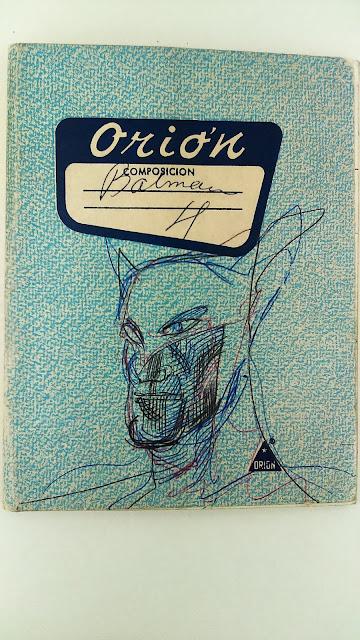 Boceto de Enrique Lihn de Batman: cuadernos del autor de Batman en Chile