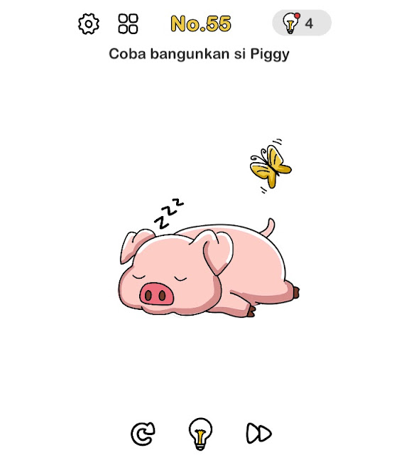 Coba bangunkan si piggy