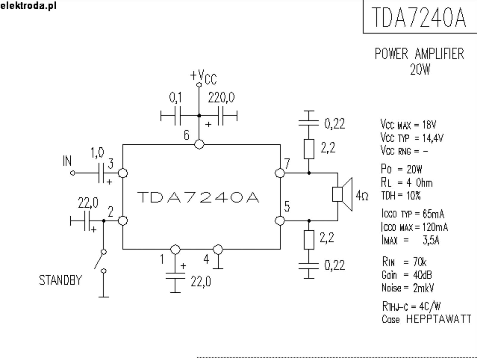Tda Based Amplifier Schematics Fatalogy World