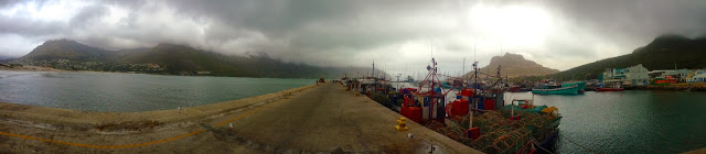 Panoramic photo taken with an iPhone5 of the Hout Bay Harbour