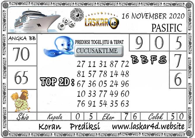 Prediksi Togel PASIFIC LASKAR4D 16 NOVEMBER 2020