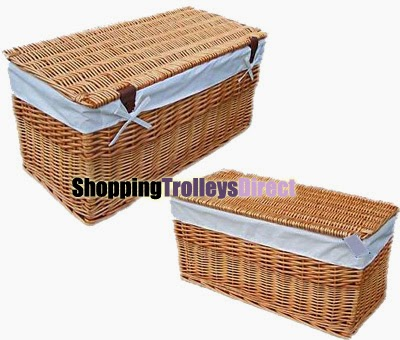 Wicker storage trunks / chests