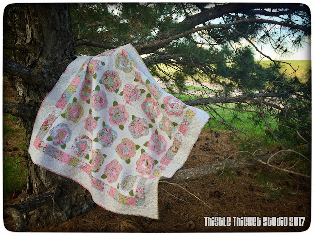 Thistle Thicket Studio, French Roses quilt, Robyn Pandolph, Love and Liberty