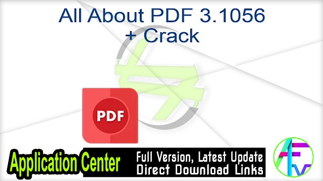 All About PDF 3.1056 + Crack