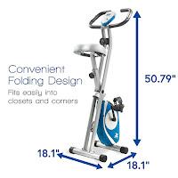 Xterra Fitness FB150 Exercise Bike's folding frame, image