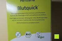 Verpackung hinten: Herbaria Blutquick, bio, 1er Pack (1 x 500 ml)