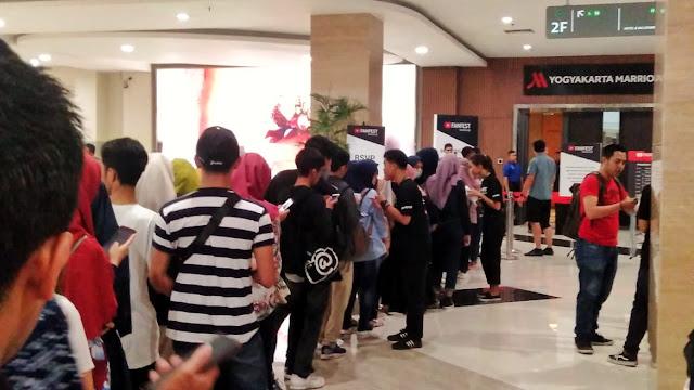 Antrean Fanfest 2019 Yogyakarta