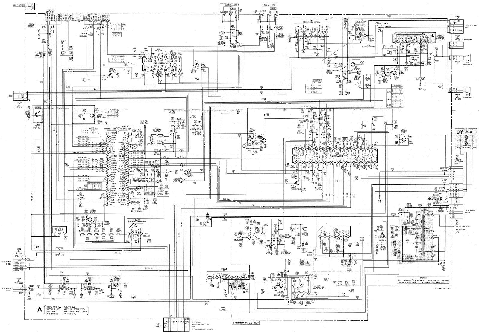 Sony KV20TS50  Trinitron TV Circuit Diagram (Schematic