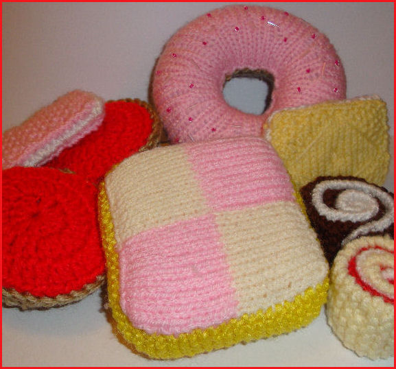 Knitted Battenburg Cake Free Pattern