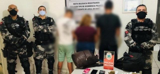 Polícia prende três ex-presidiários em Patos-PB, tentando fugir com celulares e drogas