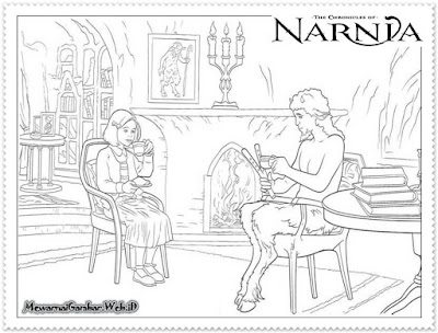 mewarnai gambar lucy dan tumnus the chronicles of narnia