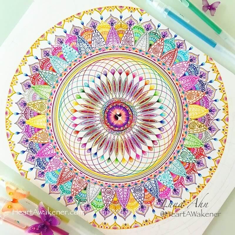 Crown Chakra Mandala by Luna Ahn