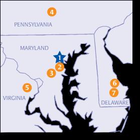 Locations In Pennsylvania, Maryland, Delaware & Virginia