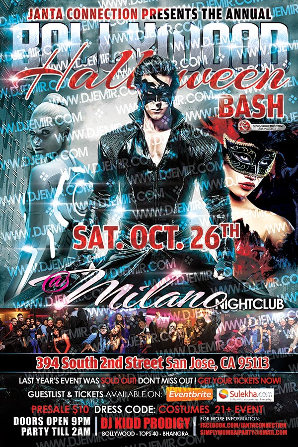 Bollywood Halloween Party Flyer Design