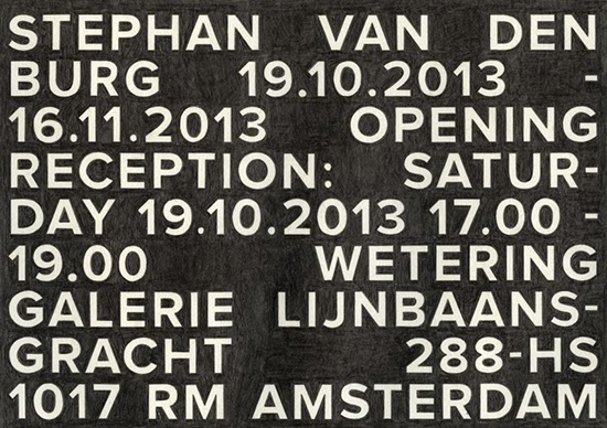 Stephan van den Burg  Invitationcard #1, 2013 pencil on paper 14.8 x 21 cm