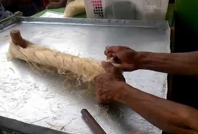 resep arumanis rambut nenek, cara membuat jajanan rambut nenek