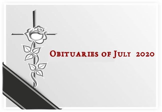 Obituaries of July 2020