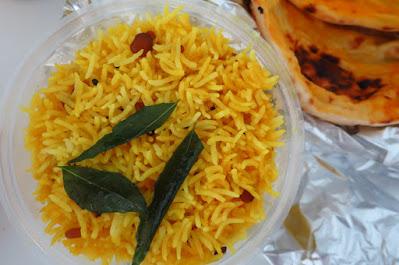 The Mango Tree Indian Coastal Restaurant, lemon basmati rice