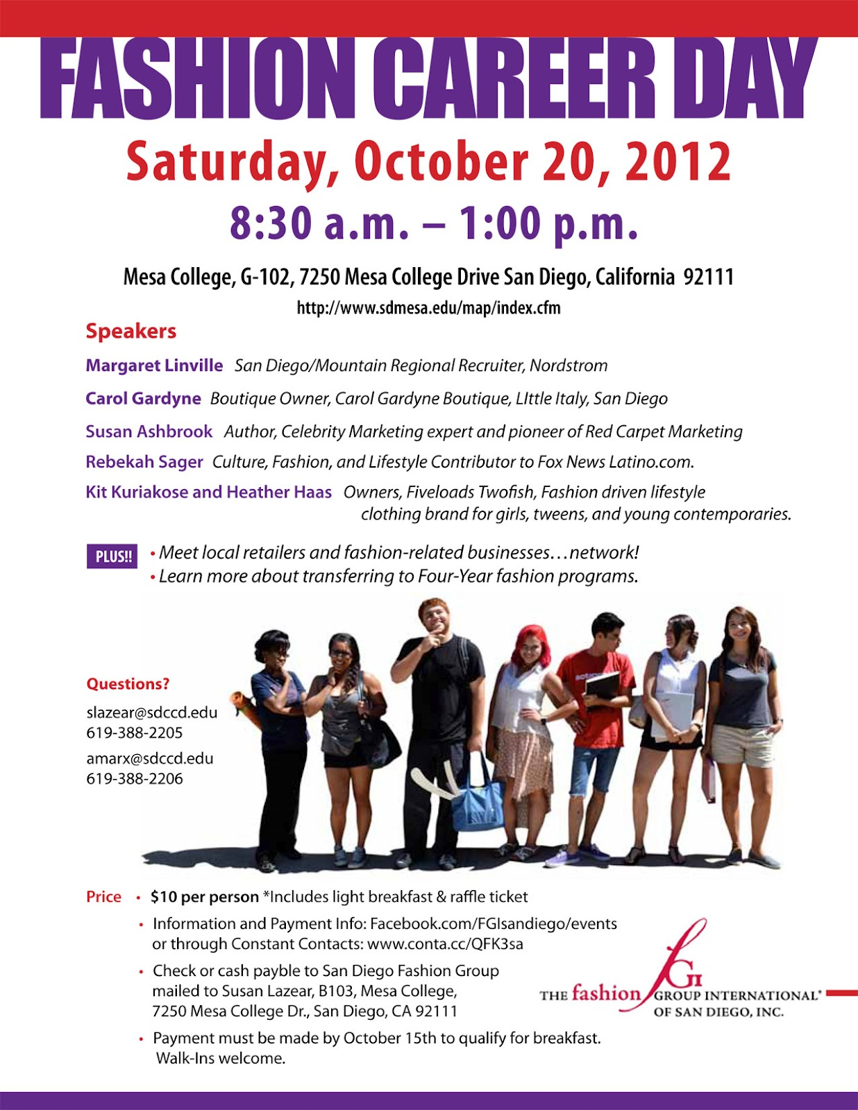 Sango Mesa College Fashion Program Fashion Career Day