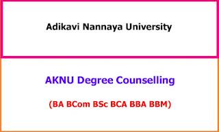 Adikavi Nannaya University Degree Counselling