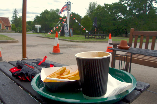 coffee and chips The Plough Leigh