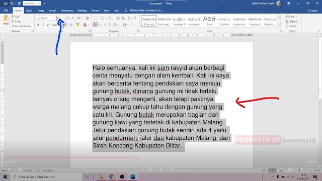 Mengganti Ukuran dan Jenis Font di Microsoft Word