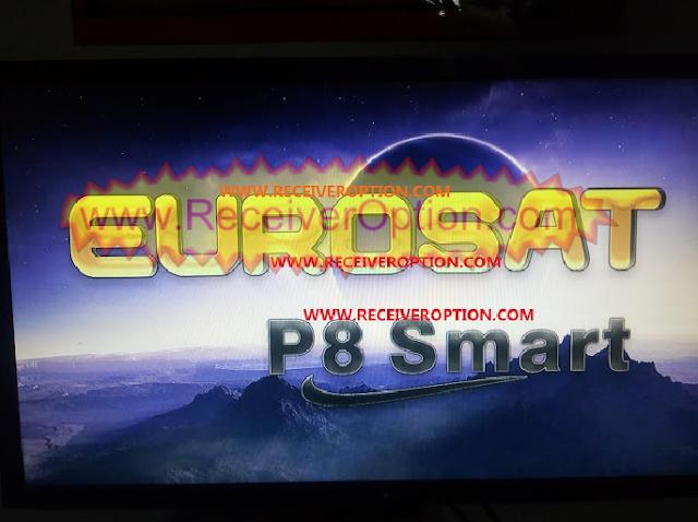 EUROSAT P8 SMART HD RECEIVER VLINE & POWERVU KEY NEW SOFTWARE