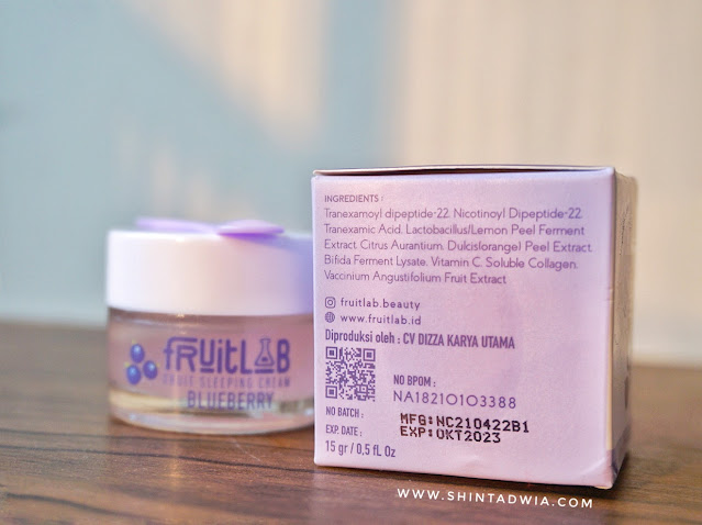 Review fruitlab sleeping cream blueberry