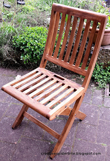 restored teak wood chair