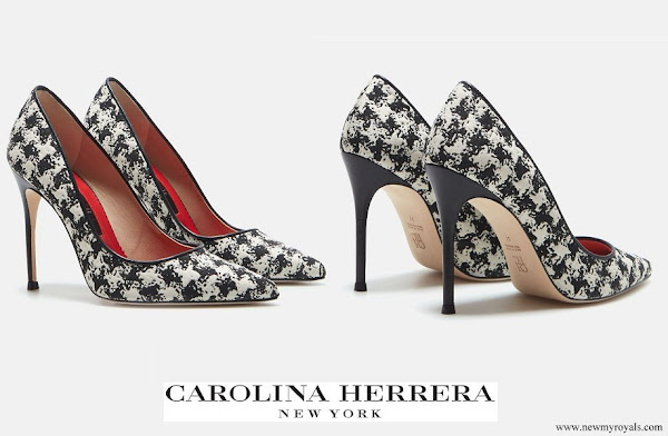 Queen Mathilde wore CH Carolina Herrera Houndstooth Pumps