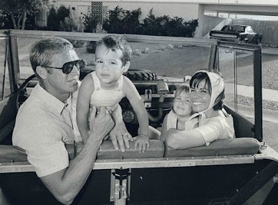 Chad McQueen's childhood picture with her parents' & sister