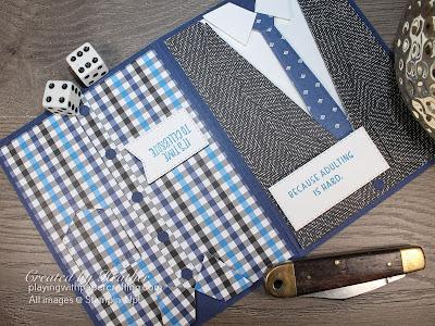 mullet card with suit & ties dies 1