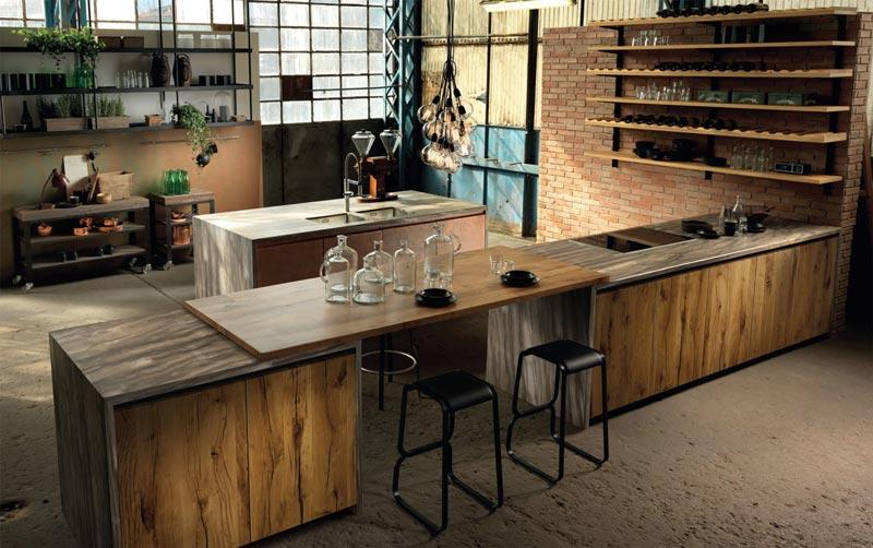 Cucina in stile industriale vintage libert espressiva e - Cucine stile industriale vintage ...