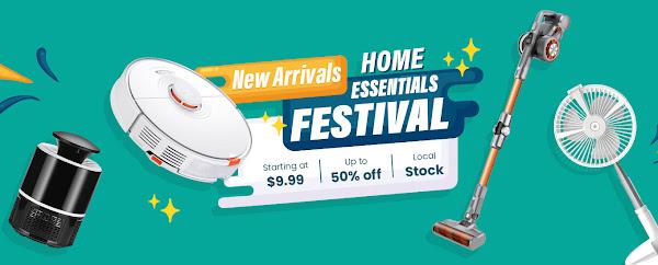Promoção Home Essentials Festival na Geekbuying