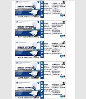 Aplikasi Cetak Kartu NUPTK Sekali Cetak 5 Kartu