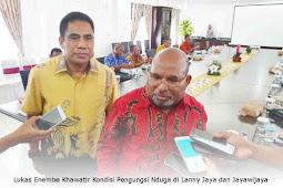 Lukas Enembe Khawatir Kondisi Pengungsi Nduga di Lanny Jaya dan Jayawijaya